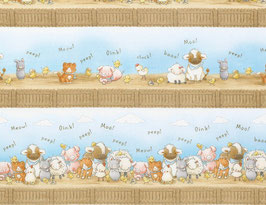 Farm Stripe, Bunnies, Timeless Treasures, 05039750718