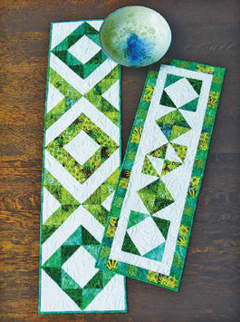 Fraternal Twins Table Runners, Cut Loose Press, Brenda Henning