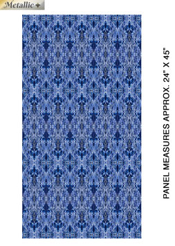 New Wings Blue/Multi, Paula Nadelstern, Benartex 01181950820