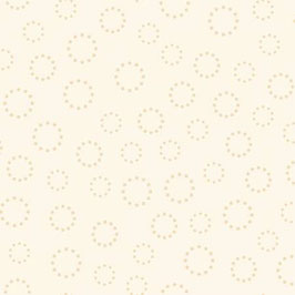 White Dotted Circles, Apple Cider 15, P & B Textiles 02053050521