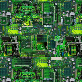 Green Computer Memory Board, Timeless Treasures 10025250620