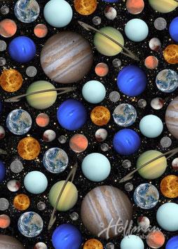 Planeten, Celestials, Hoffman Carlifornia Fabrics, 08114450918