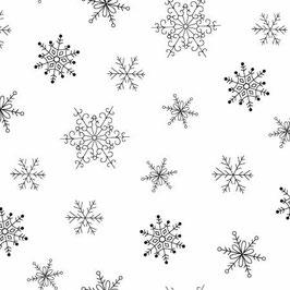 White on White Snowflakes,, Ramblings Holiday 2, P&B Textiles 07435650520