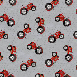 Medium Grey Tractor Country Life, Wilmington Prints 08186950620