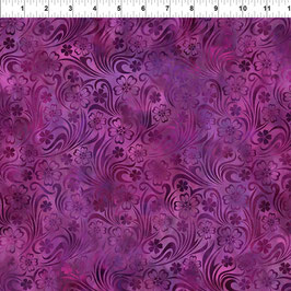 Floral Magenta, 5RJ1, In The Beginning Fabrics 02073550821