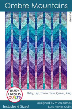 Ombre Mountains, Busy Hands Quilts
