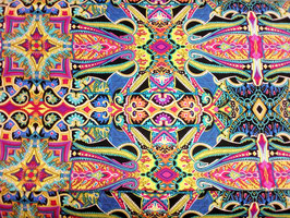 Tapestry Blue/Green Multi, Paula Nadelstern, Benartex 02230650618