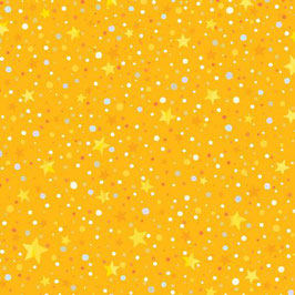 Yellow Star Dot, Winter Lights, P&B Textiles 06328350619