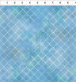 Hellblaues gotisches Muster, Diaphanous by Jason Yenter for In The Beginning fabrics 04272650819