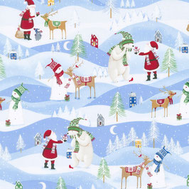 Weihnachtslandschaft, Santa´s Little Helper by Whistlers Studios, Windham Farbrics, 08012150617