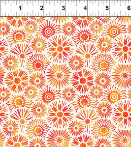 Blümchen, orange, Unusual Garden, In The Beginning Fabrics 12257950819
