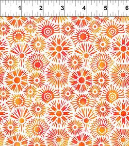 Blümchen, orange, Unusual Garden, In The Beginning Fabrics 12257950819