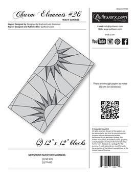 Charm Elements #26, Wavy Sunrise, Quiltworx, Judy Niemeyer