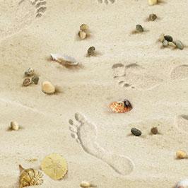 Landscape Meadley, Footsteps on the Beach Sand, Elizabeth´s Studio 09031950820