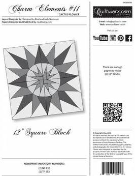 Charm Elements: Pack #11 Cactus Flower, Quiltworx, Judy Niemeyer