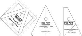 Triangle in a Square Ruler Set(3P), TIS OP 3 x 3 inch, Bloc_Loc