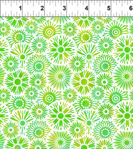 Blümchen, grün, Unusual Garden, In The Beginning Fabrics 12297950819