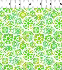 Blümchen, grün, Unusual Garden, In The Beginning Fabrics 12297950819