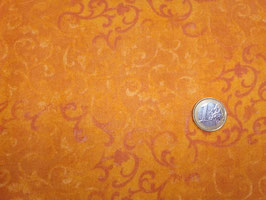 hell- und dunkelorange Ranken auf orange, Essentials Flannel Scroll, Danhui Nai, Wilmington Prints, 01160250418