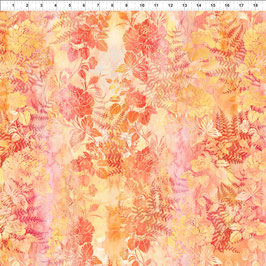 Blätter und Blüten, Gelb-Rot, Garden of Dreams by Jason Yenter for In The Beginning Fabrics 06627950819