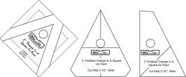 Triangle in a Square Ruler Set(3P), TIS OP 2 x 2 inch, Bloc_Loc