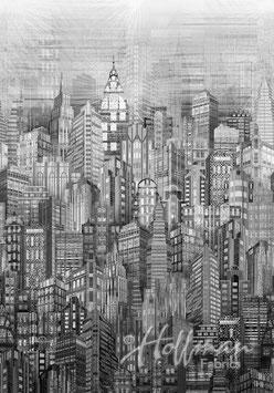 Skylines Gray, Hoffman Fabrics 08217950718