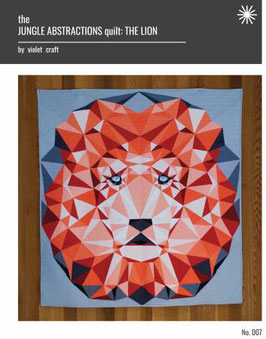 Lion Abstractions Quilt by Violet Craft