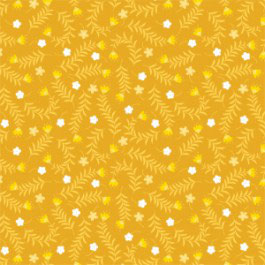 Springs in Golden Yellow, Bright Side, Allise Courter, Camelot Fabrics, 12240550816