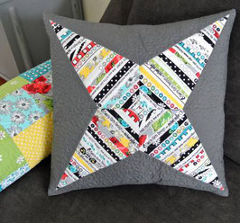 Selvage Star Pillow, Cut Loose Press, Susan Emory & Christine Van Buskirk