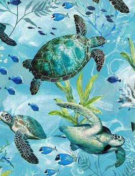 Sea Turtles Blue, Timeless Treasures, 03181750621