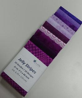 Jelly Stripes, lila, 10 verschiedene Streifen