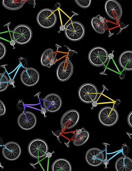 Fahrräder bunt, Timeless Treasures 07071850621