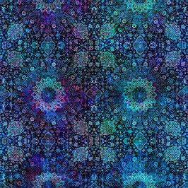 Royal, Floral Rhapsody, Hoffman Fabrics 02275150721