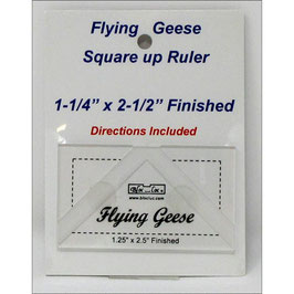 "Flying Geese Square up Ruler1 1/4"" x 2 1/2"", Bloc_Loc"