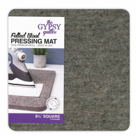 Felted Wool Pressing Mat, The Gypsy Quilter, 8 1/2in x 8 /2in x 1/2in Thick