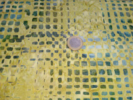 Grüne Vierecke auf moosgrünem Grund, Batik, Timeless Treasures, 09659050816