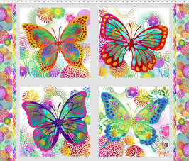 Butterflies, Panel, Unusual Garden, In The Beginning Fabrics 12237950819