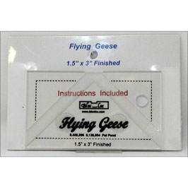 """Flying Geese Square up Ruler 1 1/2"""" x 3"""", Bloc_Loc"""