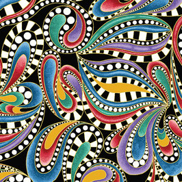 Paisley Swirl Multi, PurrFect Together for Benartex by Ann Lauer, 11077850718