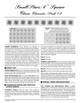 Charm Elements: Pack #9 Small Stars, Quiltworx, Judy Niemeyer