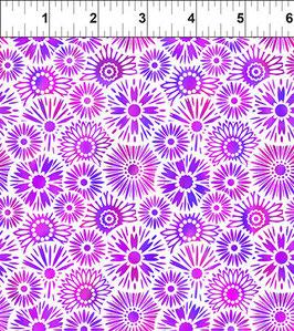 Blümchen, lila, Unusual Garden, In The Beginning Fabrics 12277950819