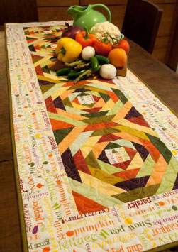 Eat Your Veggies Table Runner, Cut Loose Press, Jean Ann Wright