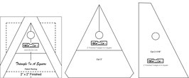 Triangle in a Square Ruler, TIS 2 x 2 inch, Bloc_Loc
