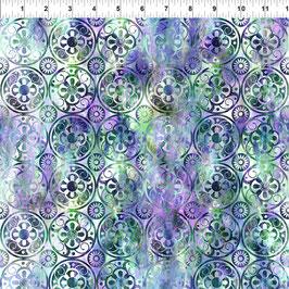 Medallions - Green/Purple, Floragraphix, In The Beginning Fabrics 01223550821