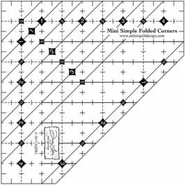 Mini Simple Folded Corners,  Antler Quilt Design