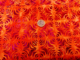 Dunkelrote Muster auf orange, Robert Kaufman, 05021850717