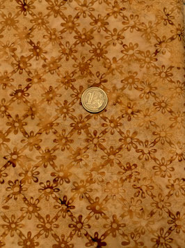 Cognacfarbene Blüten, Batik, Hoffman Fabrics, 08532550716