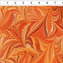 6JYM3 Genova Orange, Marble Essence by Jason Yenter, In The Beginning Fabrics