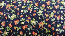 Kleine Erdbeeren auf Dunkelblau, Westex, 05139950615
