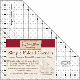 Simple Folded Corners,  Antler Quilt Design
